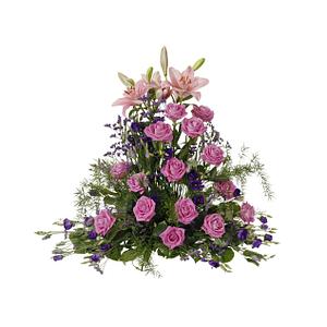 Hög dekoration Rosa-lila